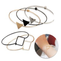 Gelang Fashion / Korean Bracelet | Triangle, Round, Geometry | Material : Alloy