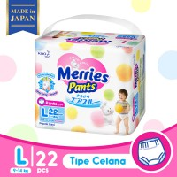 Merries Baby Diapers Pants L 22S