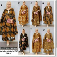 Cape Gamis Batik Maxidress