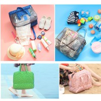 Travel Beach Bag Waterproof Organizer Basah & Kering Tas Koper Mesh
