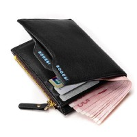 Men's Faux Leather ID credit Card holder Clutch Bifold Coin Purse Wallet