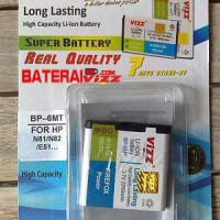 Baterai Battery Double Dobel Power Vizz Nokia BP-6MT BP6MT 2250Mah For Nokia 6720 E51 N81 N82