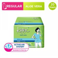 Kotex Fresh Liner Regular Aloe Vera (20 pcs)