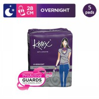 Kotex Soft & Smooth Overnight Wing 28 cm (5 pcs)