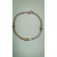 Gelang stainless steel 316L unisex, two tone