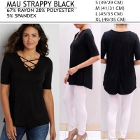 [MAURICES]BRANDED BLACK BLOUSE ROPE STRAPPY NECK FOR WOMEN