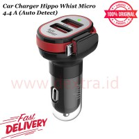 Car Charger Hippo Whist 4.4A (Auto Detect + Build in Cable)