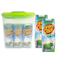 6 x 250ml Hydro Coco Real Coconut Water + FREE Food Container (JABODETABEK Only)