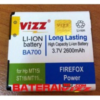 Baterai Battery Double Dobel Power Vizz Sony Ericsson Soner Ba700 Ba-700 2600Mah For Sony ST18i