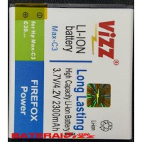Baterai Battery Double Dobel Power Vizz Smartfren Andromax C3 H11308  2300Mah