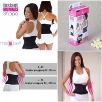 TERLARIS Miss Belt instant hourglass ( belly belt peramping perut ) TE