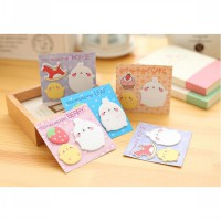 sno031 catatan tempel kartun kelinci Korea set rabbit sticky notes