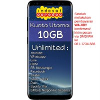 Indosat OBRAL PROMO Paket Data Internet Unlimited Apps + Kuota Utama 10GB
