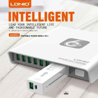 LDNIO A6802 6-USB Port 40W Desktop Charger with Power Bank 2600mAh