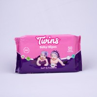 Twins Baby Wipes Soft and Smooth 50s