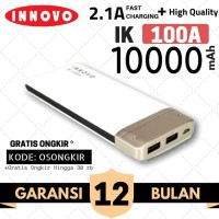 Power Bank 10000 mAH INNOVO ORIGINAL Portable Charger Leather IK-100A