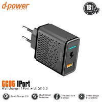 [POP UP] dpower GC06 Wall Charger 1 Port Fast Charging Qualcomm QC 3.0