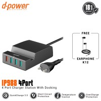 [POP UP] dpower IP988 Multiport 4 USB Fast Charging QC 3.0 with Station Dock