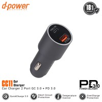 [POP UP] dpower Car Charger 2 Port Fast Charging PD 3.0 + QC 3.0