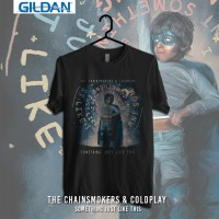 The Chainsmokers-Something Just Like This Kaos Band Printed In Gildan