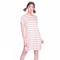 MY013FCMK16 LONG LINE STRIPE DRESS