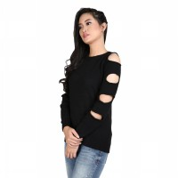 Miyoshi Jeans - MY005IBKD19 - Sweater festive - Black