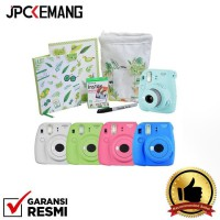 (POP UP) Fujifilm Holiday Package Instax Mini 9 Lime Green (included 1pack Paper Mini Single Pack)