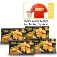 Golden Fiesta Seafood Cheese Croquette @210 gr Paket 4 pack