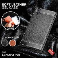 Soft Leather Gel Case Lenovo P70 Softcase Silikon Silicon Jelly Casing - Hitam