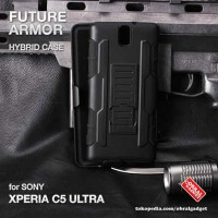 Sony Xperia C5 Ultra Shockproof Future Armor Hybrid Hard  Soft Case