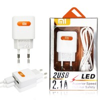 TRAVEL CHARGER 2USB + LED XIAOMI 4G/BST