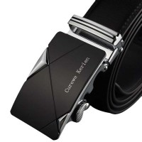 Men Leather Automatic Buckle Belts Luxury Waist Strap Belt Waistband