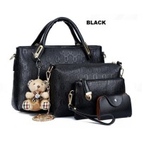 TAS 4in1 WITH BONEKA TEDDY | TAS IMPORT BATAM | BAG FASHION | HANDBAG MURAH | TAS PREMIUM