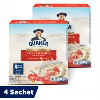 Quaker Instant Oatmeal Box 4 Sachets - Twin Pack