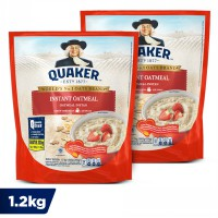 Quaker Instant Oatmeal 1.2 Kg - Twin Pack