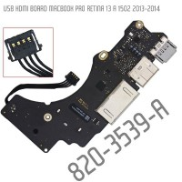 USB HDMI Card Reader Board Macbook Pro Retina 13 A1502 2013-2014 - 820-3539-A Partmac42