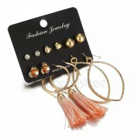 earring set 6pairs rose gold stud earrings