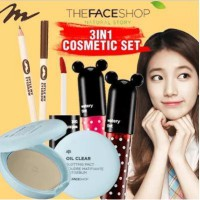 [Get 3pcs] Oil Clear Smooth Bright Pact SPF30 PA++ + Style My Eyebrow (Wood) + Disney Watery Tint