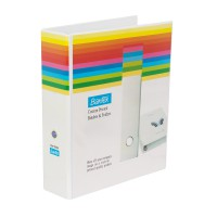Bantex Insert Ring Binder 2 Ring 65mm Folio White #8563 07