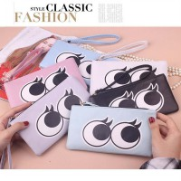 bdo065 dompet mata kartun cartoon eyes zipper large purse