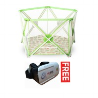 Twomother Hexagonal Portable Playpan Playard Green Free VR Box