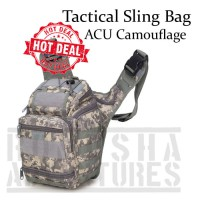 TAS ARMY TACTICAL SLING BAG 803 DORENG ACU CAMOUFLAGE UNIVERSAL