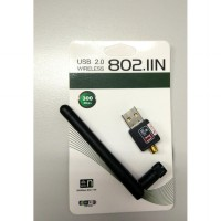 USB WiFi 300Mbps Wireless Adapter + Antenna