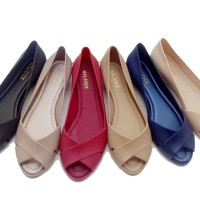 Wedges Shoes Sepatu Jelly Silang | Jelly Shoes Wedges
