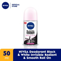 NIVEA Deodorant Black & White Invisible Radiant & Smooth Roll On 50ml