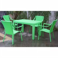 Set Kursi Makan / Kursi Makan Sintetis -  Charlotte Dining Set-4Chair 1Table
