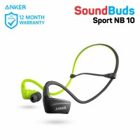 Earphone Anker SoundBuds Sport NB10 Black & Green - A3260