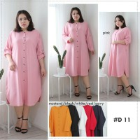 BAJU BIGSIZE MURAH - DRESS OBLONG TUNIK STACEY JUMBO (D11)