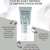 WARDAH Nature Daily Mineral + Clarifying Facial Foam 60ml