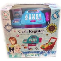Cash register with troley snow ice frozen
